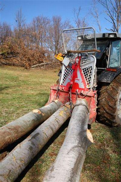 Трелевочные лебедки для трактора