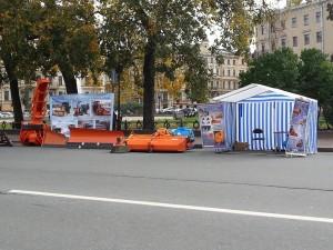 Выставки  «Благоустройство городских территорий» и «Дороги  Мосты Туннели» в центре Санкт-Петербурга.