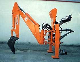 Навесной экскаватор mini190 для тракторов 12-40 л.с